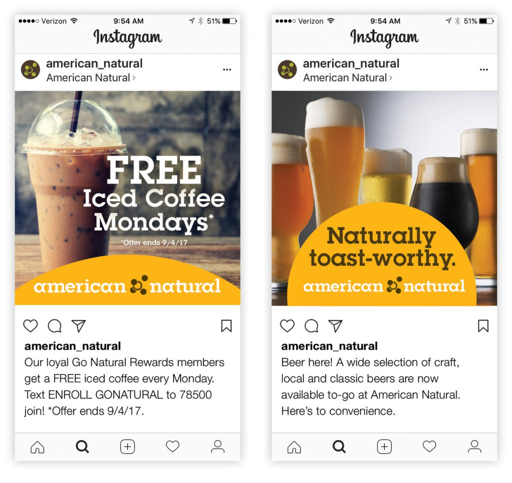 American Natural Instagram Posts