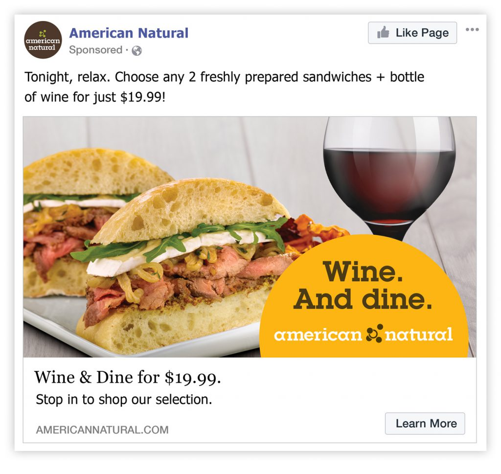 American Natural Facebook Post