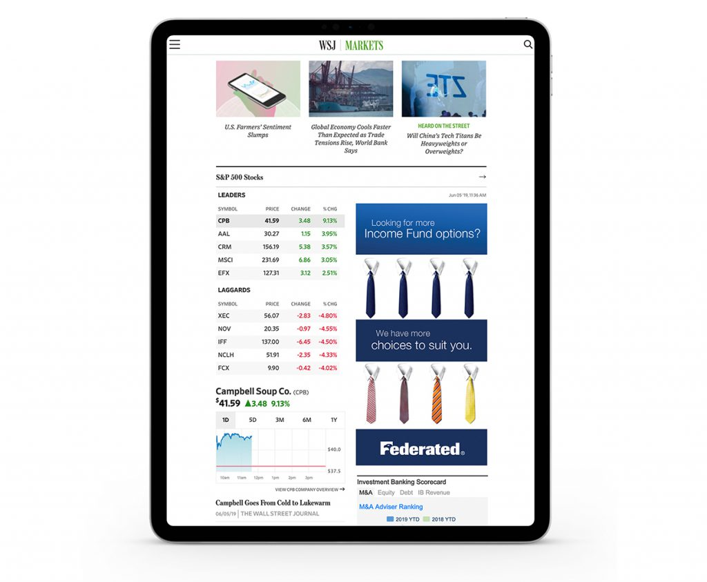 Federated Investors Digital Display Ads