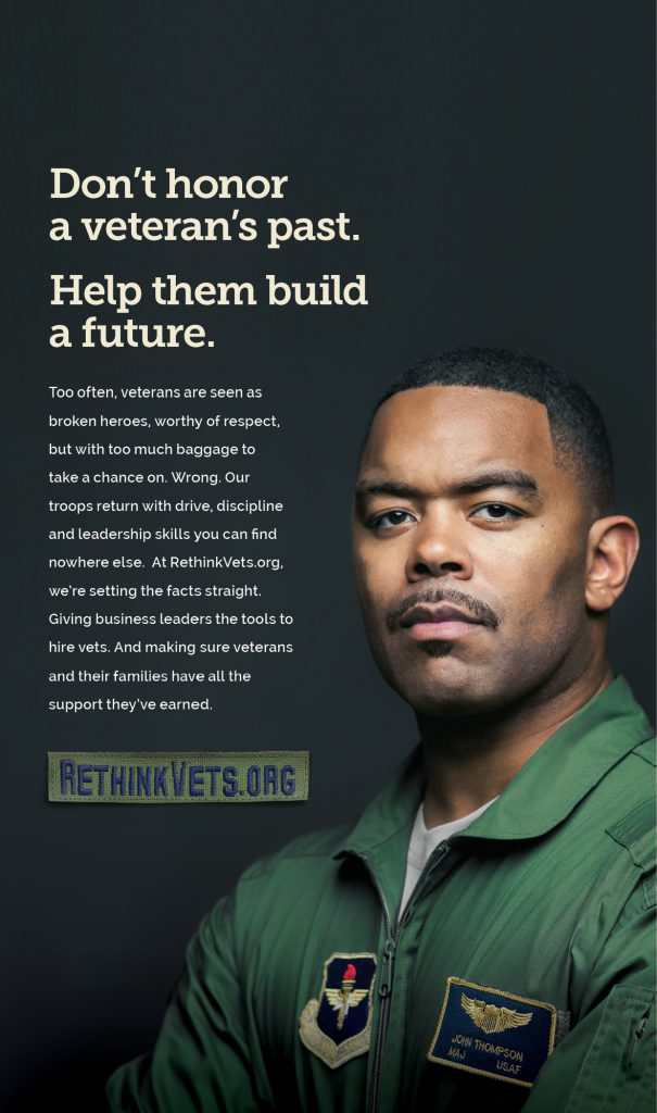 Don't honor a veteran's past. Help them build a future.