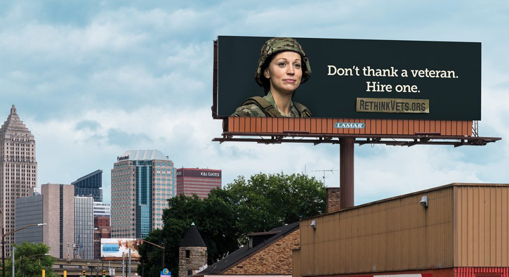 Don't thank a veteran. Hire one.