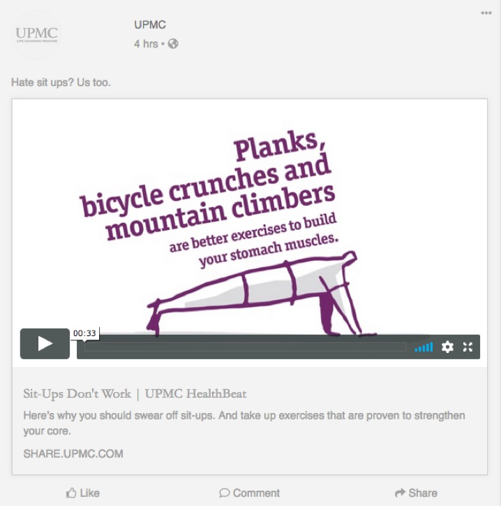 Planks, bicycle crunches and mountain climbers