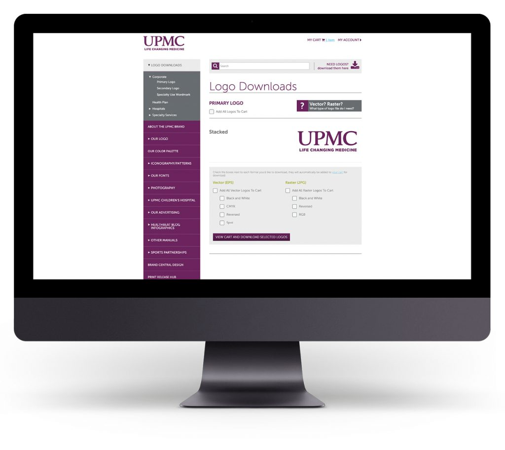 UPMC Brand Central Website
