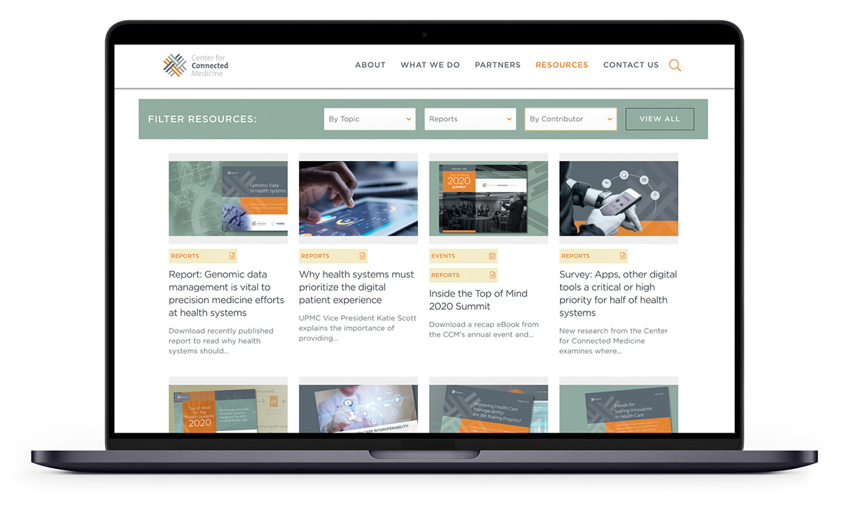 Center for Connected Medicine Website